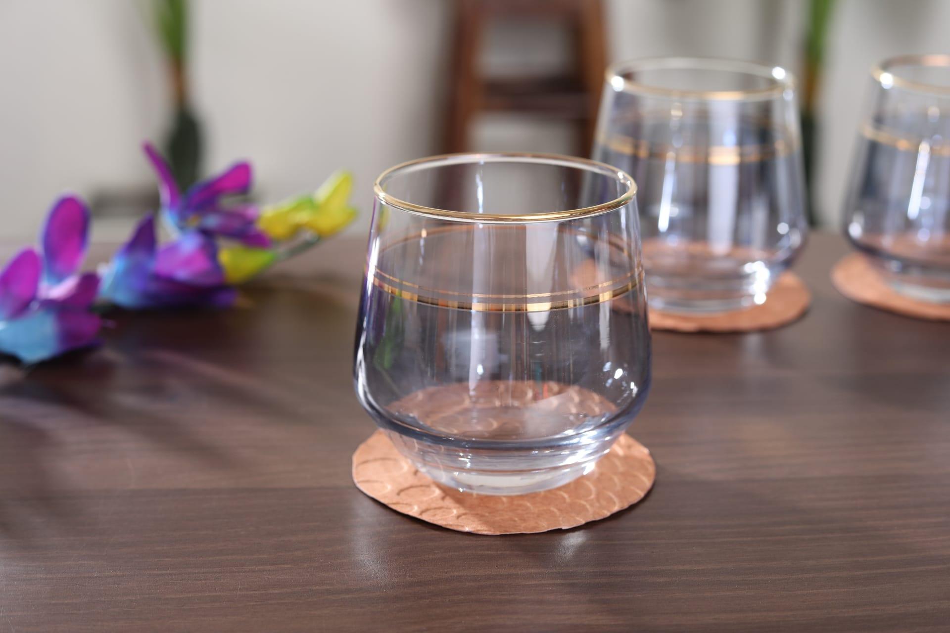 Viola Regal Drinking Glass