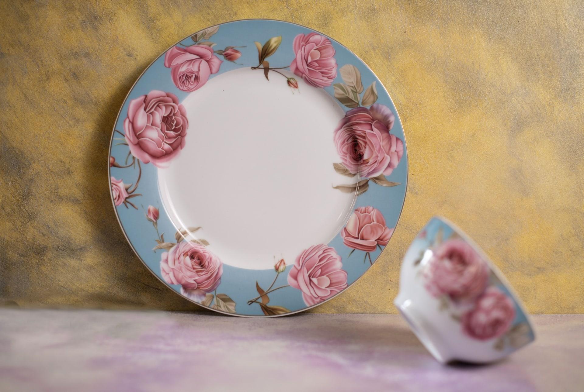Viola English Floral Porcelain Dinner Plate