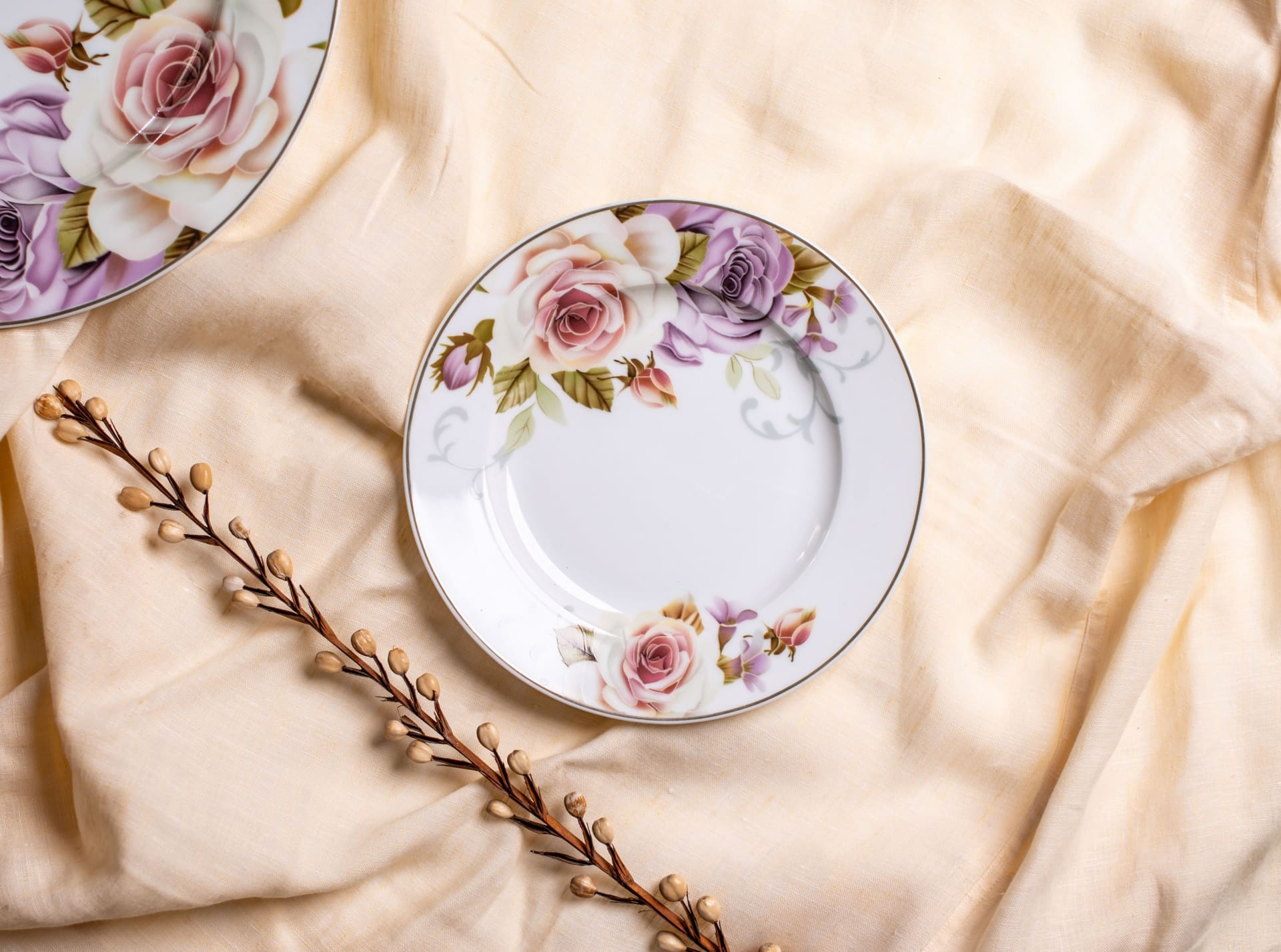 Viola Fiesta Porcelain Dessert Plate