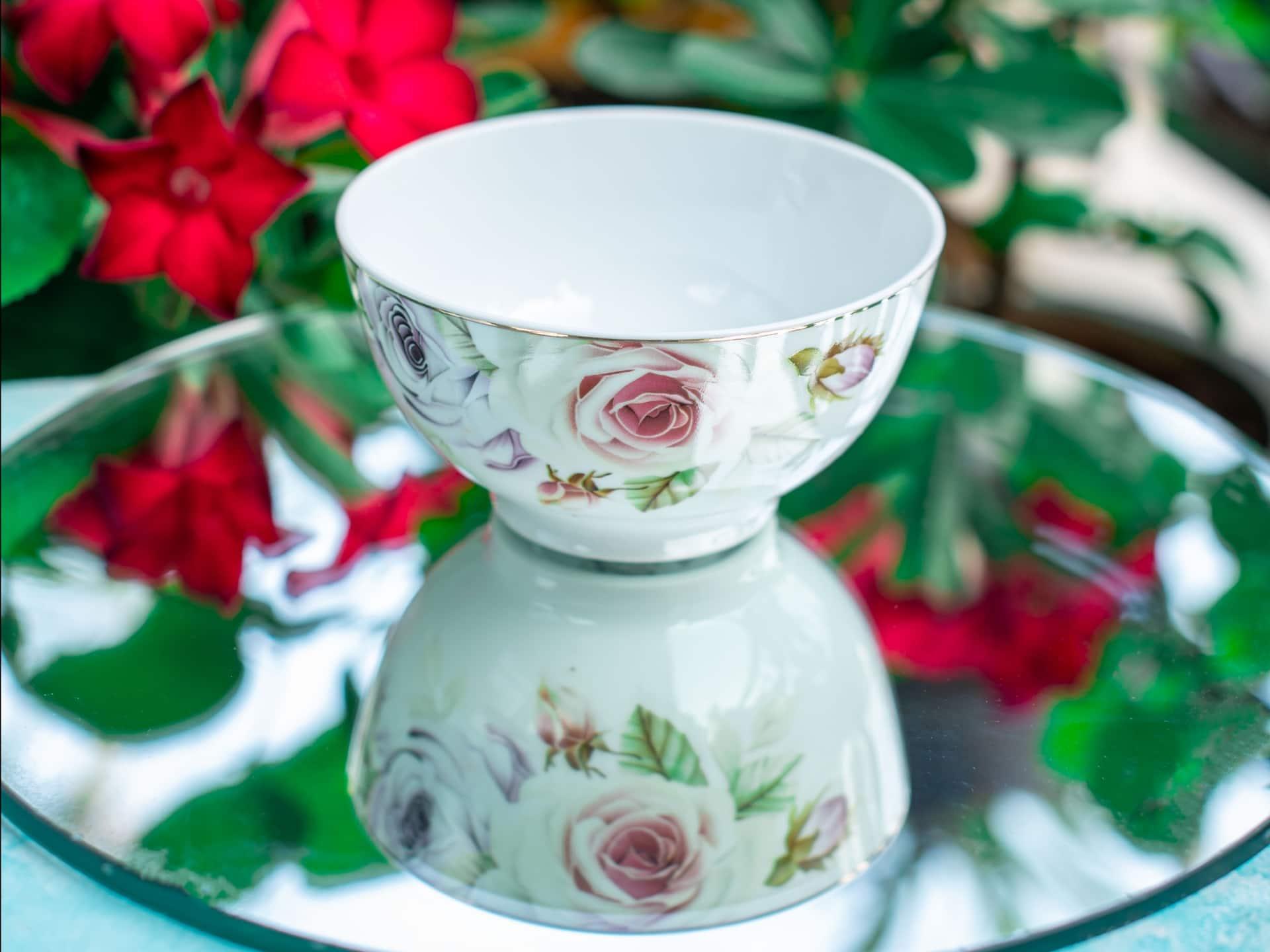 Viola Floral Modish Porcelain Bowl