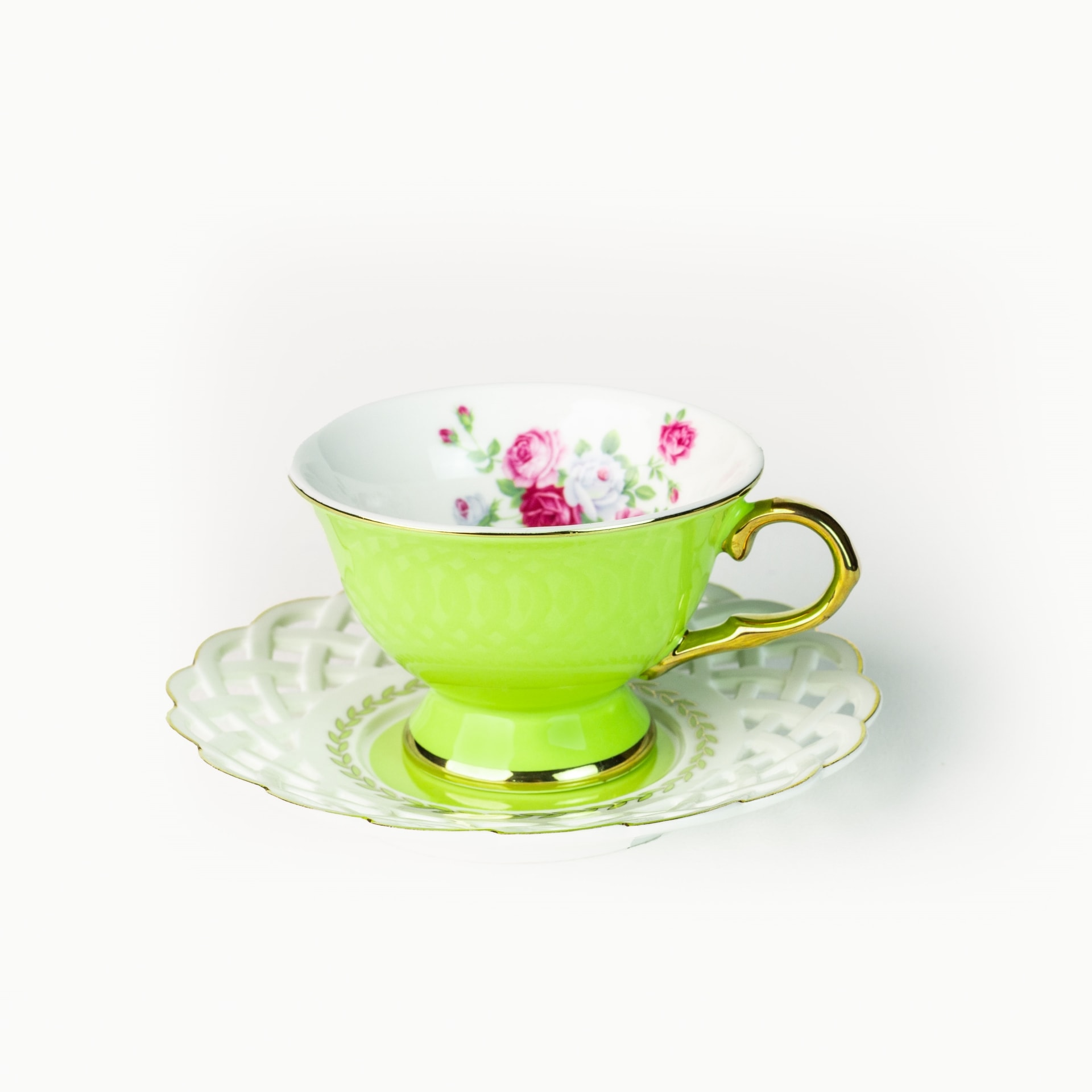Viola Verdant Cup and Saucer Set of Two (90ml)