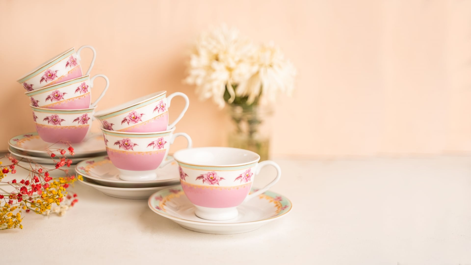 Viola Azure Cup and Saucer Collection