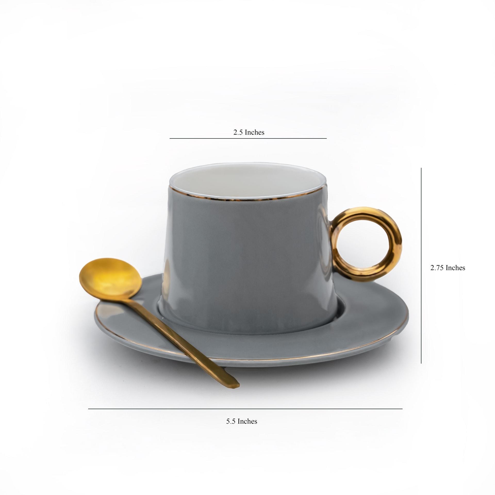 Viola Dusky Tea/Coffee Mug Set