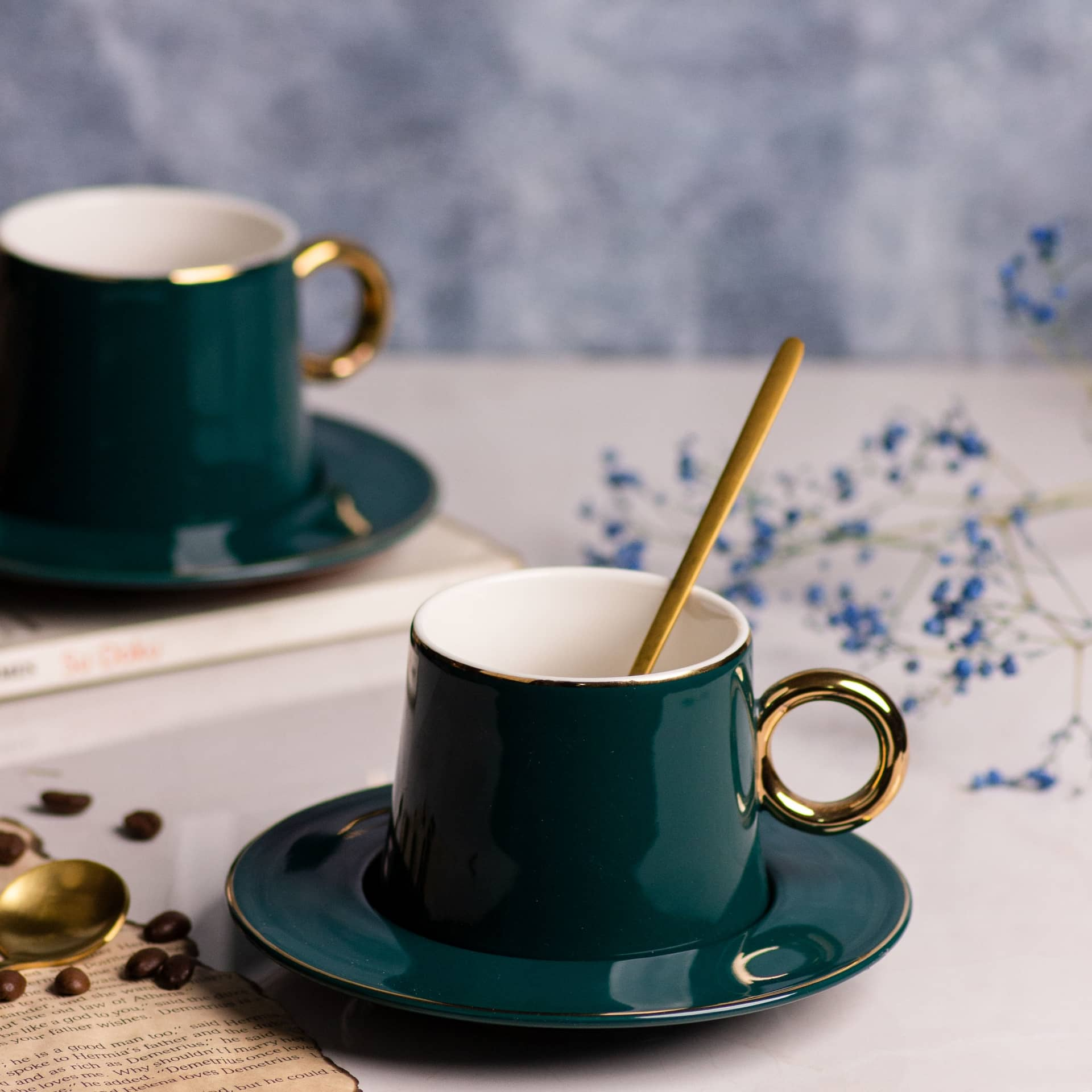 Viola Verdant Tea/Coffee Mug Set