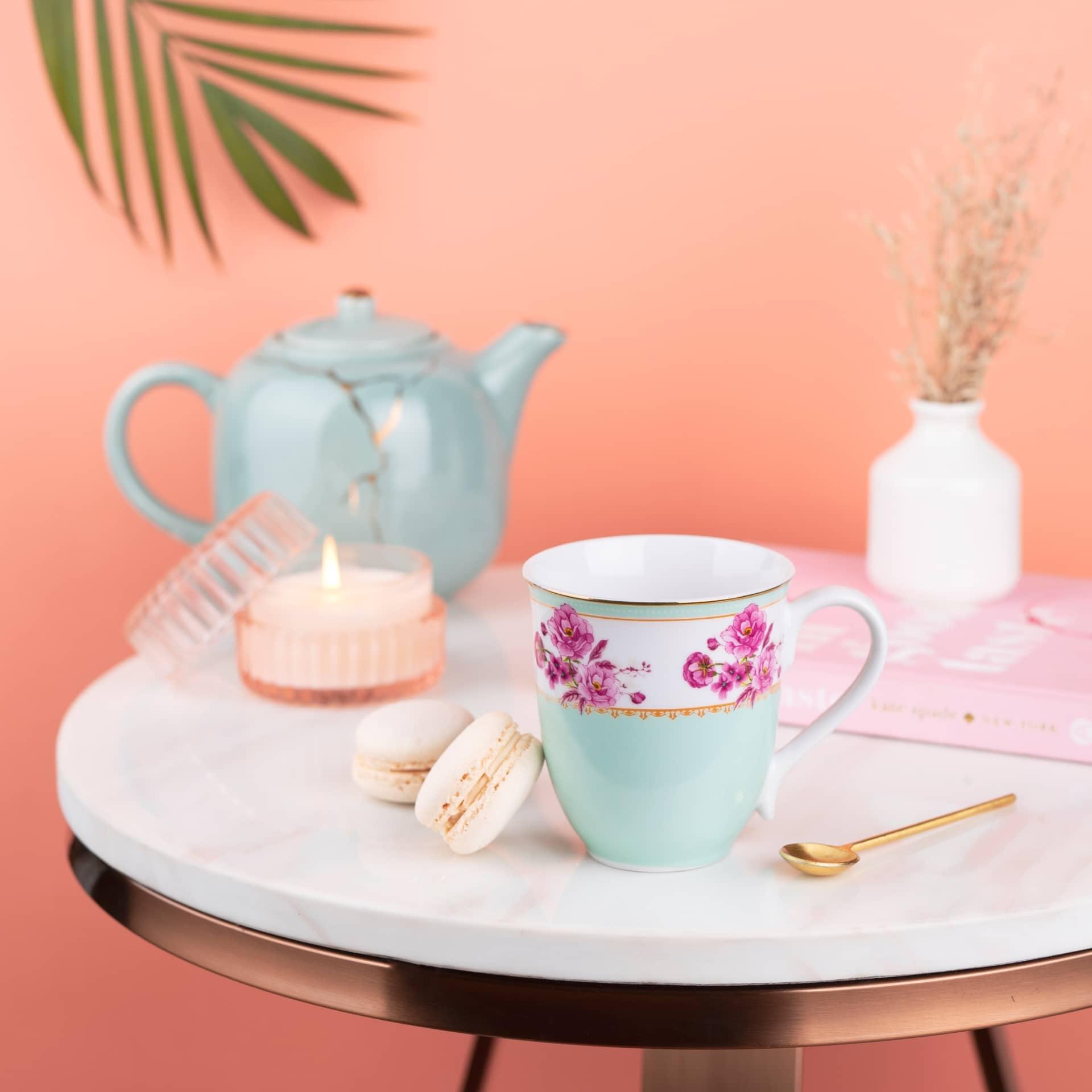 Viola Azure Meadow Porcelain Coffee Mug
