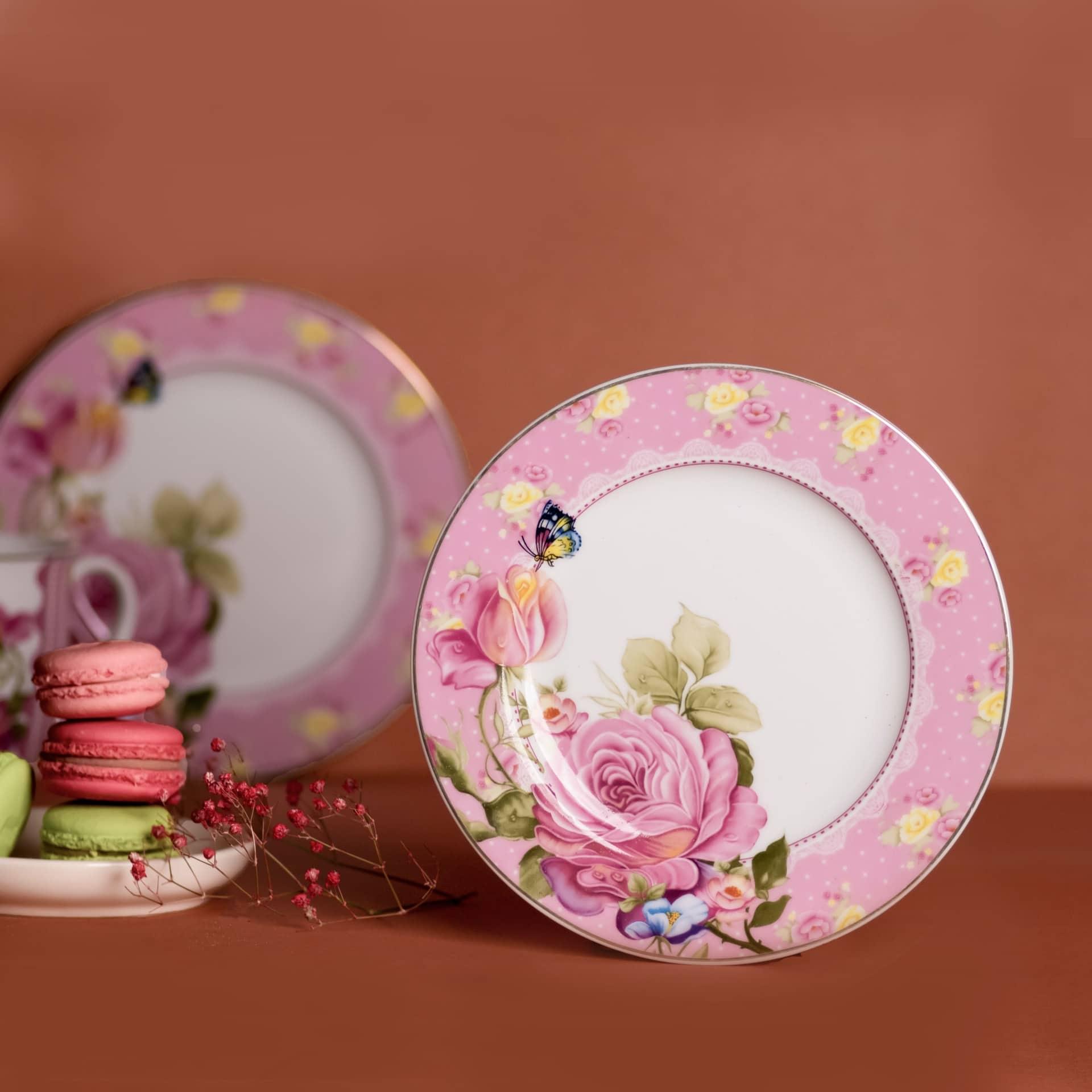 Viola Paeonia Porcelain Dessert Plate