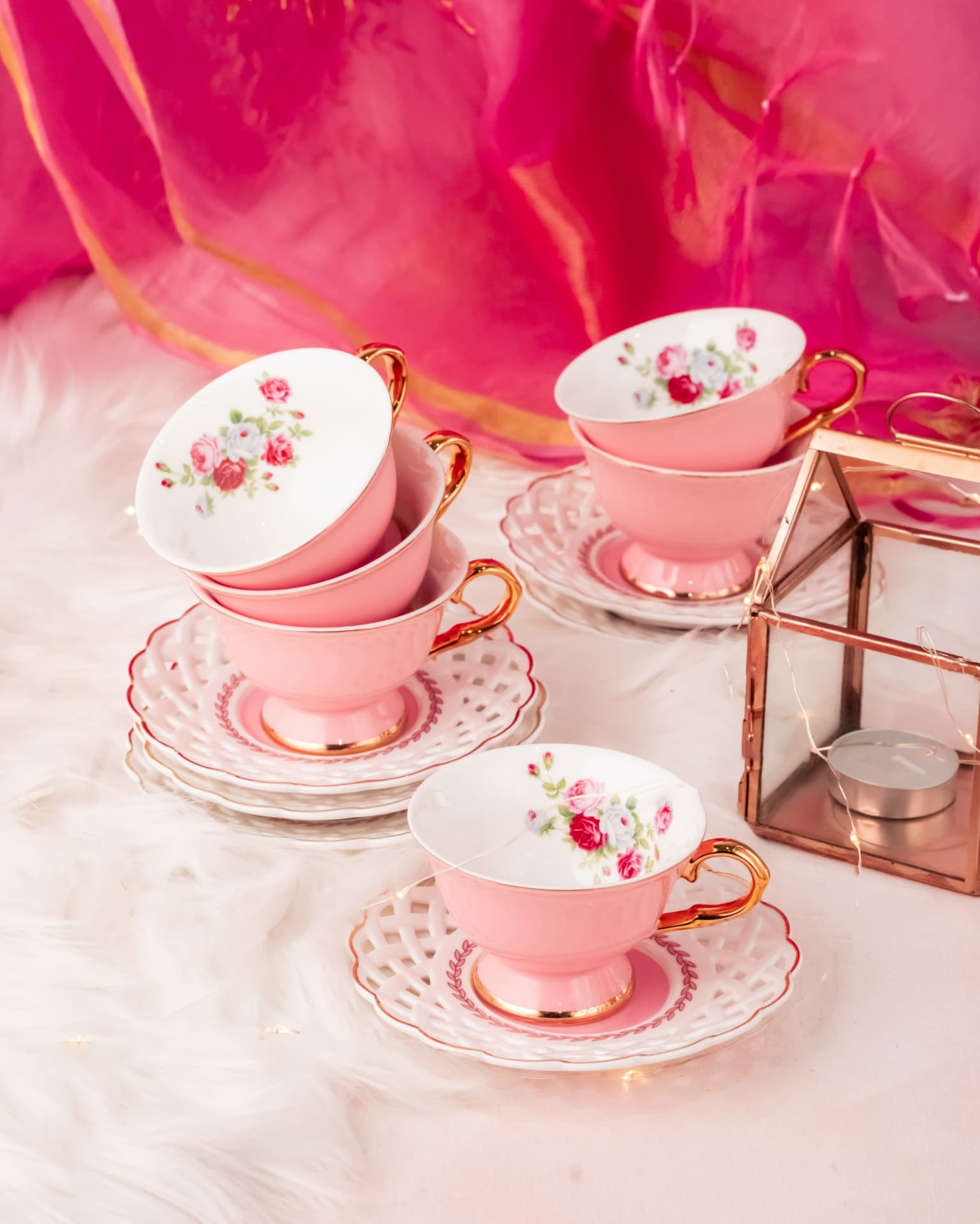Viola Dicentra Cup And Saucer Set Of Six (90ml)